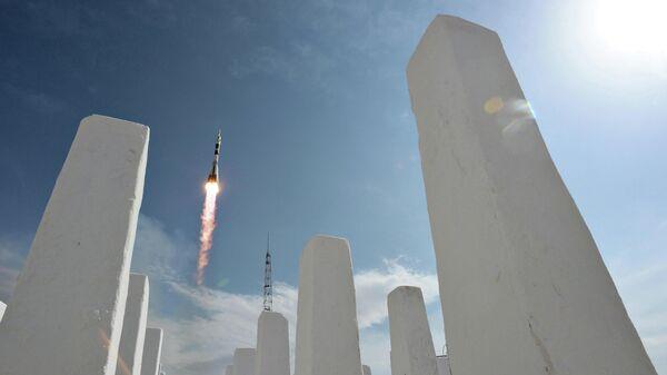 Пуск ракеты-носителя Союз с космодрома Байконур. Архивное фото
