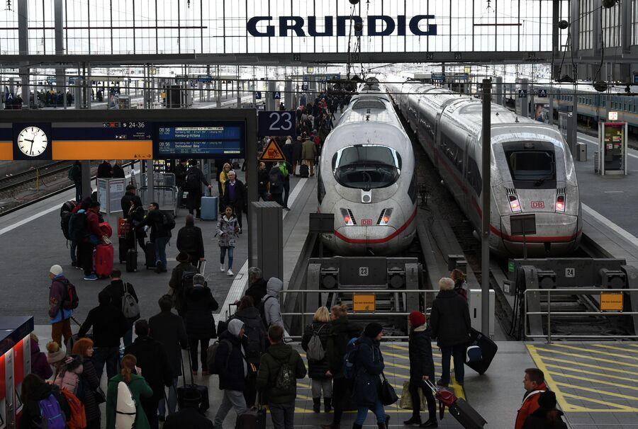 Поезд в Мюнхене