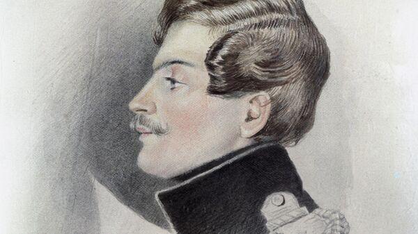 Портрет Дантеса работы художника Томаса Райта. Репродукция