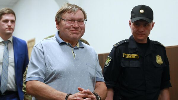 Бывший губернатор Ивановской области Павел Коньков в Басманном суде Москвы. 3 июня 2019