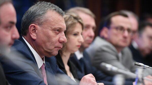 Встреча заместителя председателя правительства РФ Юрия Борисова с вице- премьером Кубы Ригардо Кабрисасом Руисом. 4 июня 2019