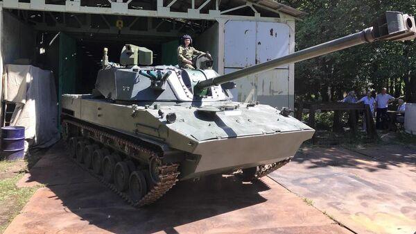 Первый опытный образец новейшего самоходного орудия для Воздушно-десантных войск Лотос