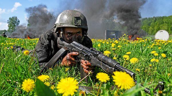 Испытания на право ношения крапового берета среди военнослужащих Росгвардии