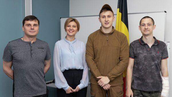 Cупруга Президента Украины Елена Зеленская встретилась в Брюсселе с украинскими военнослужащими. 5 июня 2019