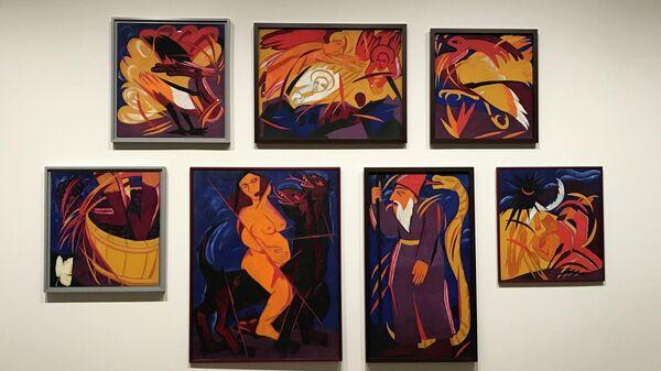 Ретроспективная выставка русской художницы-авангардиста Натальи Гончаровой в лондонском музее современного искусства Tate Modern