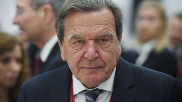 Петербургский международный экономический форум. День второй. Председатель комитета акционеров Nord Stream 2 Герхард Шредер