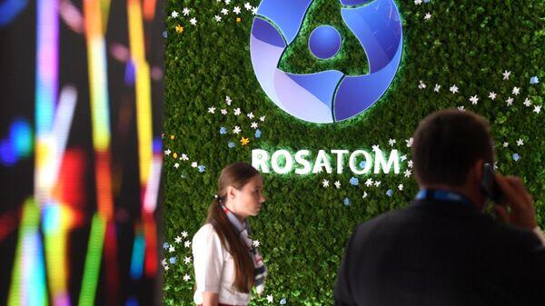 Стенд компании Росатом на Петербургском международном экономическом форуме-2019