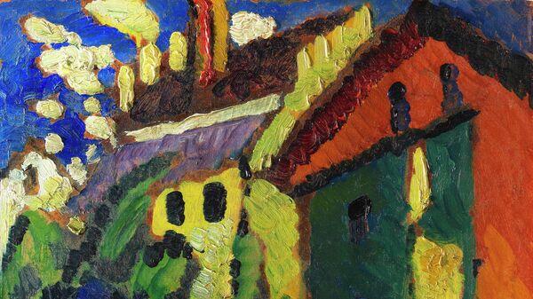 Картина Василия Кандинского Лестница к замку