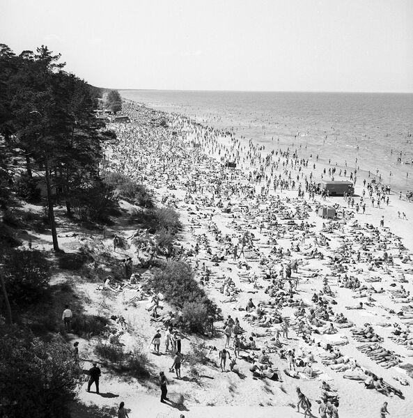 На Рижском взморье. Пляж в июле