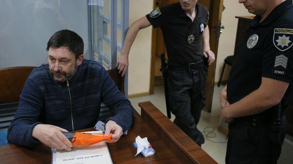 Кирилл Вышинский на заседании Подольского районного суда Киева. Архивное фото