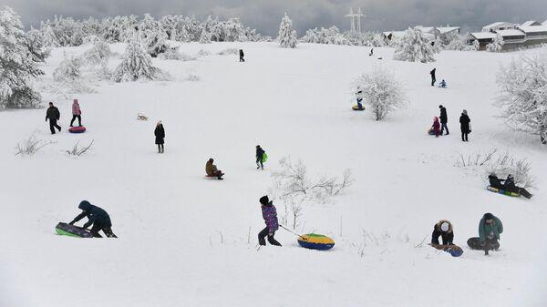 Работа фотографа Алексея Мальгавко Зимний выходной. Россия