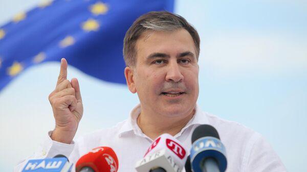 Лидер политической партии Движение новых сил Михаил Саакашвили. Архивное фото