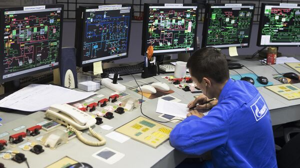 Пульт дистанционного управления тепловой электростанции на Раушской набережной в Москве