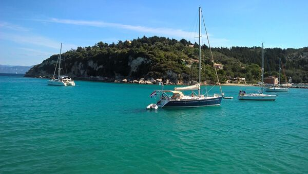 Яхты на острове Корфу