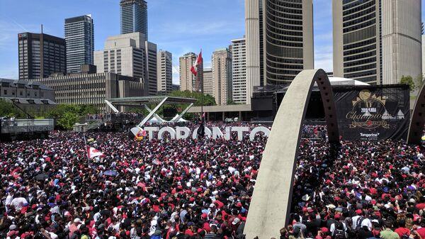 Чемпионский парад клуба НБА Торонто Рэпторс