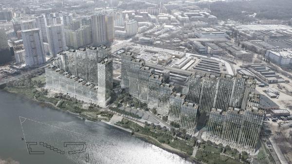 План строительства жилого квартала на Москве-реке Береговой