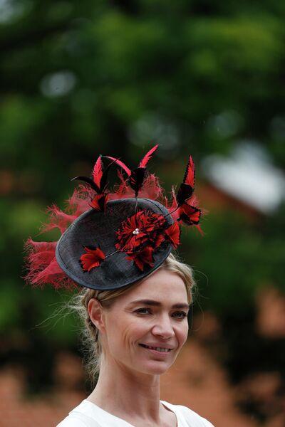 Британская фотомодель Джоди Кидд на королевских скачках Royal Ascot