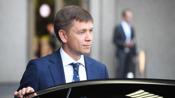 Министр цифрового развития, связи и массовых коммуникаций РФ Константин Носков на международном конгрессе по кибербезопасности в Москве.