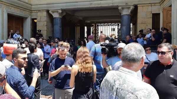 Акция протеста против выступления российского депутата Сергея Гаврилова в парламенте Грузии. 20 июня 2019
