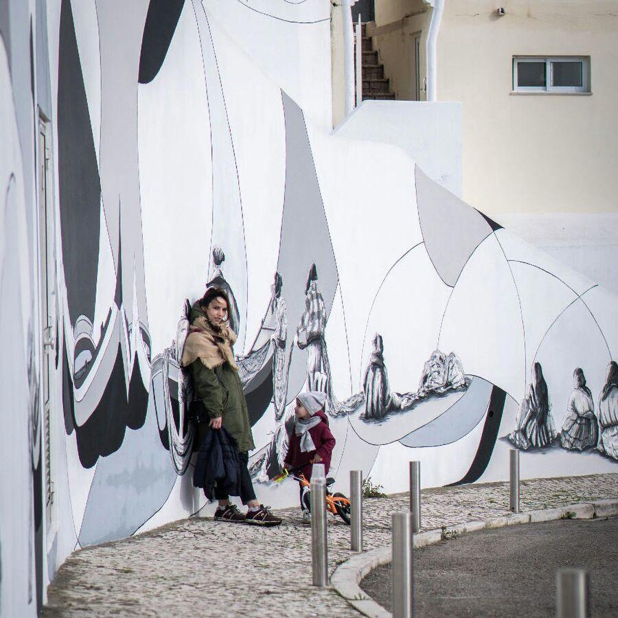 Португалия. Городок Назаре. С дочерью Симой