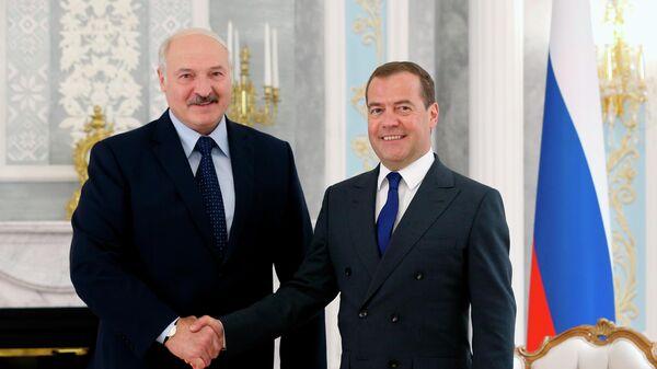 Рабочий визит премьер-министра РФ Д. Медведева в Белоруссию