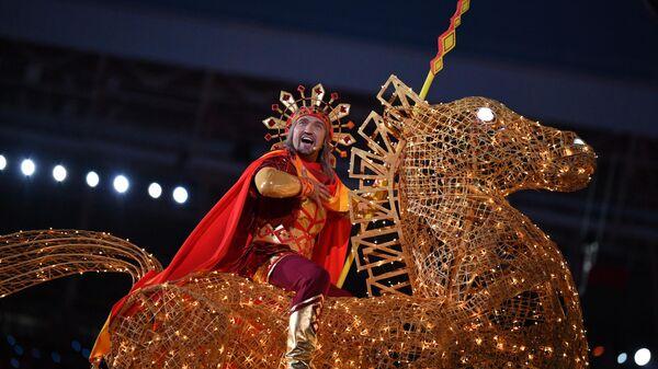 Театрализованное представление на церемонии открытия II Европейских игр в Минске