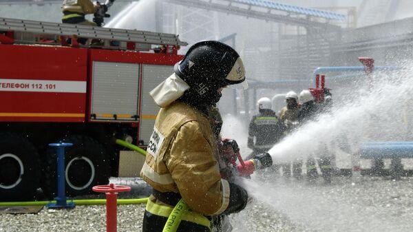 В Перми потушили возгорание в подвале здания на стадионе