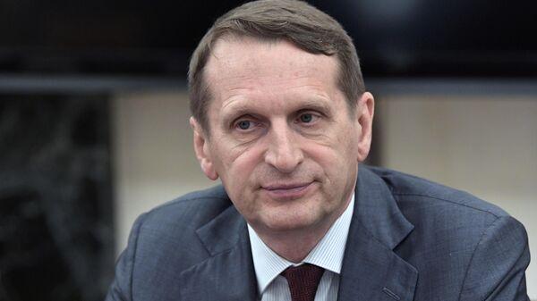 Директор СВР Сергей Нарышкин перед заседанием Комиссии по вопросам военно-технического сотрудничества. 24 июня 2019