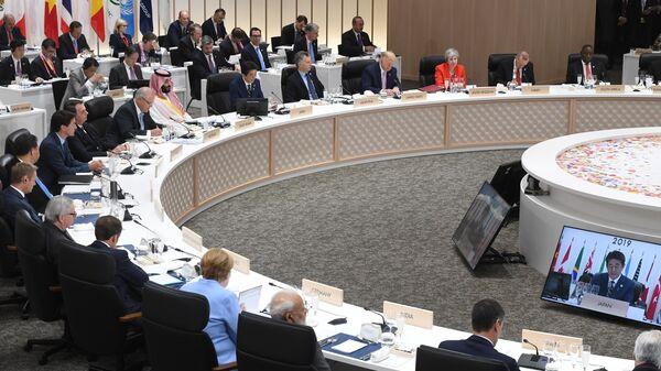Рабочий визит президента РФ В. Путина в Японию для участия в саммите Группы двадцати. 28 июня 2019