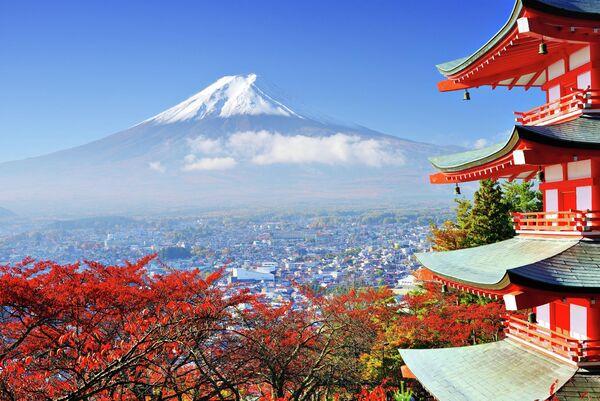 Вид на гору Фудзияма