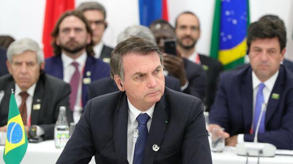 Президент Бразилии Жаир Болсонару на саммите Группы двадцати