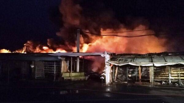Пожар на городской ярмарке в Магнитогорске. 30 июня 2019
