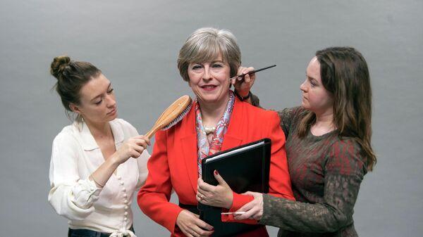 Восковая фигура премьер-министра Великобритании Терезы Мэй в музее мадам Тюссо