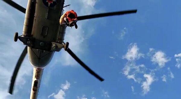Эвакуация пострадавших из района подтопления в Иркутской области