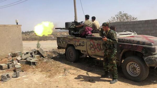 Сторонники правительства национального согласия ведут огонь в южном пригороде Триполи, Ливия