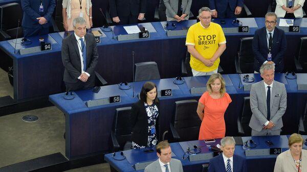 Депутаты на первой сессии нового Европейского парламента в Страсбурге. 2 июля 2019