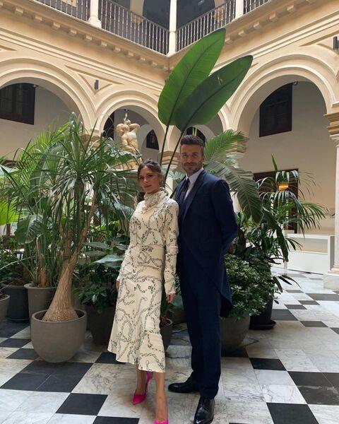 Дэвид и Виктория Бекхэм в Севилье