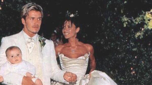 Свадьба Виктории и Дэвида Бекхэма. 4 июля 1999