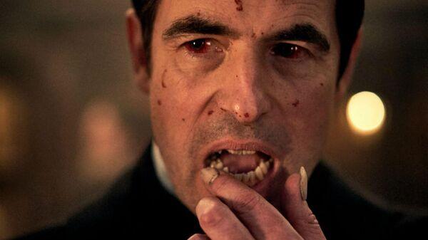 Кадр со съемок сериала Дракула