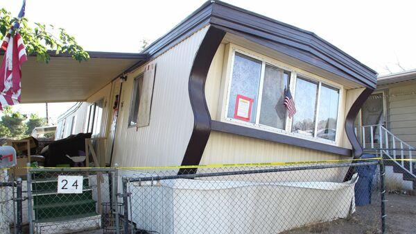 Пострадавший в результате землетрясения дом в городе Риджкрест, Калифорния, США. 4 июля 2019