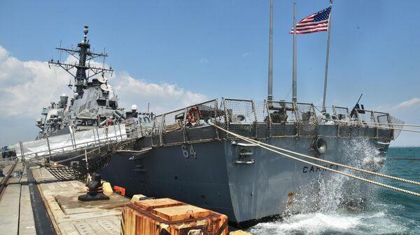 Эсминец ВМС США Carney в морском порту Одессы. Корабль задействован в международных учениях Sea Breeze-2019