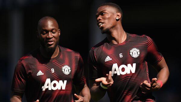 Футболисты Манчестер Юнайтед Ромелу Лукаку и Поль Погба