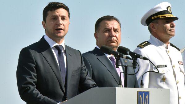 Президент Украины Владимир Зеленский на праздновании Дня ВМС Украины в Одессе. 7 июля 2019
