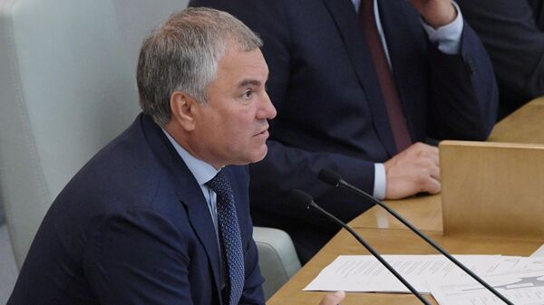 Председатель Государственной Думы РФ Вячеслав Володин