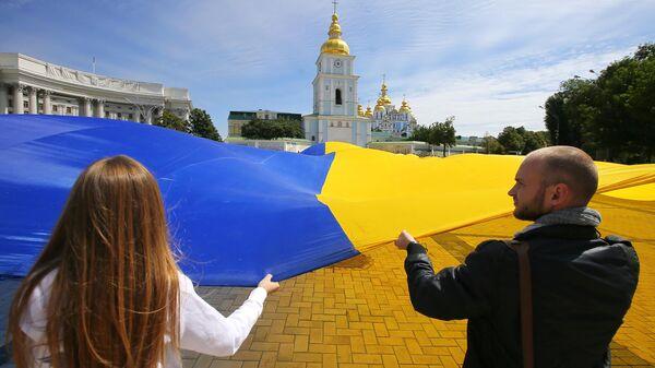 Предвыборная акция в Киеве