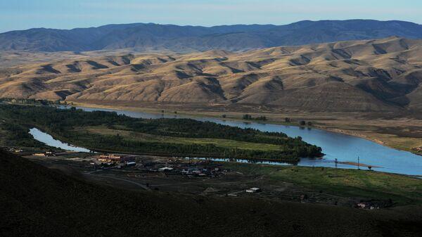 Вид на Енисей в пригороде Кызыла