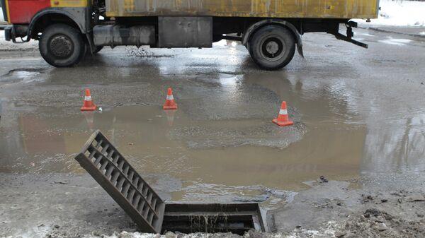 Очистка от мусора ливневой канализации в Казани