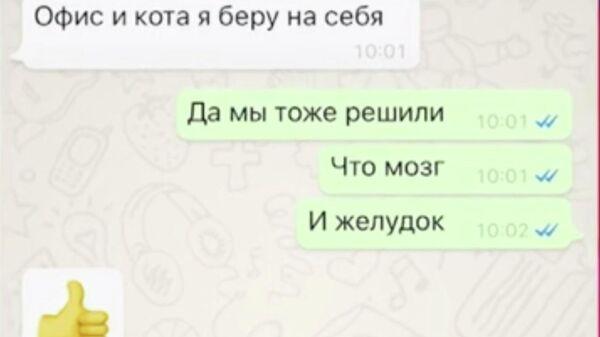 Снимок экрана переписки помощника Бари Алибасова с лечащим врачом продюсера