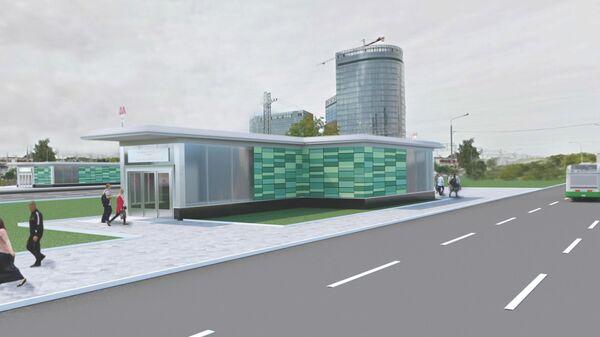 Проект выхода со станции метро Ботанический сад в Москве