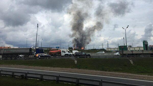 Пожар в районе Северной ТЭЦ в Мытищах